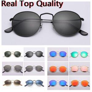 Çıkartmalar Metal Yuvarlak Kılıf, Erkek Barkod Cam Deri Güneş Gözlükleri Ücretsiz Güneş Gözlüğü Orijinal Lensler Bez, Kutu, Aksesuarlar, UV400 R EMGCN