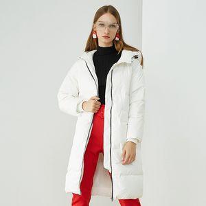 Bojun 2021 winter new women's down jacket thickened long white duck down warm women's coat
