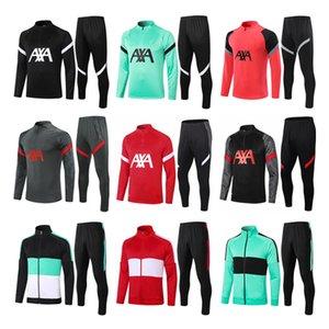 Ensemble de football à manches longues en Jersey Sucksuits de Soccer Jersey Skacksuits de Jersey 2020 2021 Kit d'uniformes d'entraînement