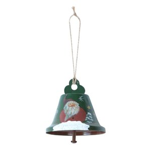 2pcs Christmas Bell Living Room With Rope Crafts Festival Decor Party DIY Wall Tree Iron Art Gift Hanging Pendant Home Bedroom