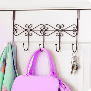 Bath Towel Hanger Belt Hanger 5 Hook Coat Clothes Decoration Color Three Hook Door Hooks1 Xfdhv