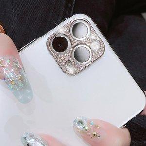 12 12 Pro Max Shiny Bling 다이아몬드 렌즈 케이스 용 카메라 렌즈 보호 장치 11 12 Mini DD