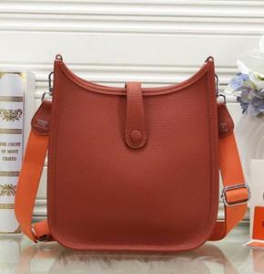 Calidad superior de la bolsa 10 mujeres de los colores del hombro del diseñador del cuero H del cuerpo bolsa de cruz para mujer color puro bolsa bolso crossbody