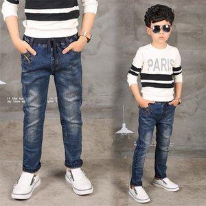 Boy Jeans Limited Follow Colid Casure для осенних мальчиков джинсы, детские джинсы моды, для возраста 3 4 5 6 7 8 9 9 10 11 12 13 14 лет LJ201203