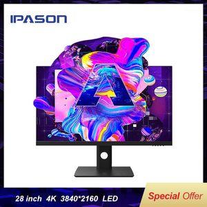 IPASON E281UA 28 بوصة 4 كيلو مرتفع لون متعدد الألوان تصميم رصد دعم دعم رفع / استدارة تعديل / دقة HD Desktop1