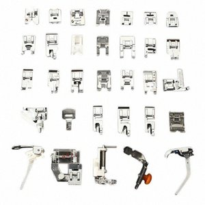 Pés 32PCS Presser Conjunto acessórios para máquina de costura Low Shank Bordados Artes Máquina, Artesanato Costura TB Venda Ka2B #
