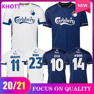 2020 magliette di calcio danese Copenhagen FISCHER nero assente SIGURDSSON ZECA maglia da calcio N'Doye SKOV uniforme Copenhagen Divisa 20 21