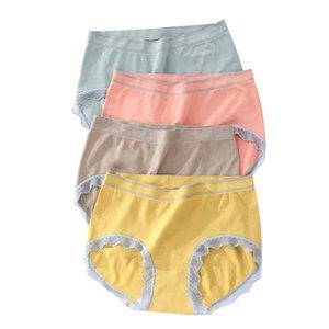 Sous-vêtements en soie Mulberry antibactériennes Femme Caleçons Cotton Panties Taille de Briefs Plus Size Dropshipping 3 pièces / set