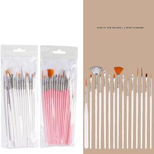 15PCS Nail Art польский Картина кисти Cosmetic Nail Art DIY Draw Pen расставить Советы Set Tools Pro Nail Art Liner Design Kit