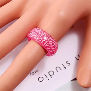 Luminous Glow Ring Glowing in The Dark Jewelry Leopard Print Luminous Resin Rings Unisex Decoration for Women Men
