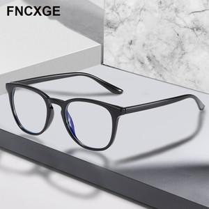 Light Blue Moda retro óptico anti 2020 Men Square vidrios de las mujeres Gafas de bloqueo del ordenador señoras de la miopía 6918