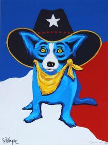 Bella Blue Dog, incorniciato Senza cornice decorazione domestica dipinta a mano HD Stampa della pittura a olio su tela di canapa di arte della parete della tela di canapa Immagini ER38