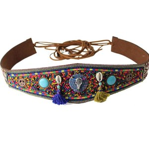 New Luxury Ethnic Traditional Bohemian Wide woman belt strap for women jeans Dress Wide female belts High quality