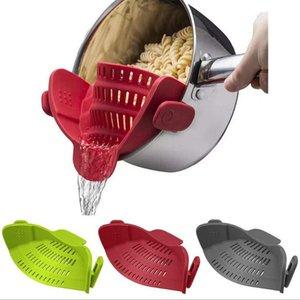 Drain Basket Silicone Kitchen Colatan Wash Lavaggio Verdure Colandine Filtro a scatto Cucina Fruit Noodles filtro Lavaggio del lavaggio GWB4052