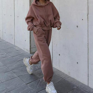 Autumn Women's Tracksuit 2021 Winter 2 Piece Woman Set Women Two Piece Set Outfits Oversized Hoodie And Pants Casual Sport Suit