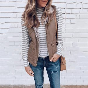 NEW Women Cotton Vest Autumn Winter Warm Coat Lined Plush Zipper Jacket Ladies Fashion Double-sided Wear Outerwear S-XL