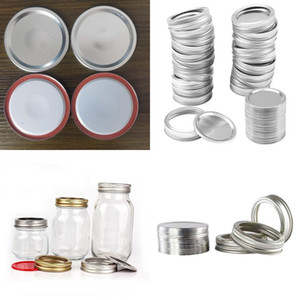 70mm 86mm Mason Jar Lids With Discs Wide Mouth Canning Mug Glass Lid Top Covers Rust Resistant Screw Bands Rings 20 G2