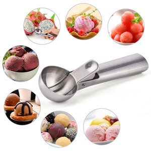 Ice Cream Scoop Stainless Steel Ice Cream Spoon Metal Icecream Cookie Scoop Melon Fruit Baller Ice Ball Maker Kitchen Tools