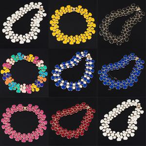 2017 nouveau design couker couker court collier populaire grand pendentif clavicule chaîne 9 couleur bijoux de banquet délicat pour femmes 286 J2
