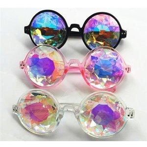 NewClear Круглые очки Калейдоскоп Eyewears Кристалл Lens партии Rave Солнцезащитные очки Hot 3