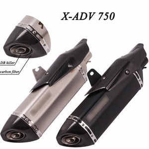 Slip On Motorcycle Exhaust Pipe Muffler Escape Modified Tube Header Front Link Pipe For X- 750 X 750 Full System viGT#