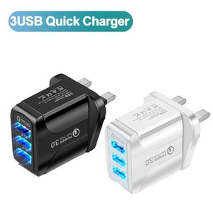 Mobile Phone adapter 3 USB fast charge charger QC3.0 Fast Charging Tablet Wall Adapter For Phone