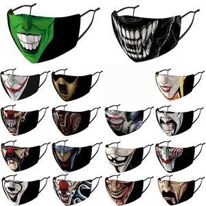 Halloween masque facial masques hommes design femmes Oncle fumeurs masque crâne tête de clown Impression 3D masque facial en stock avec filtres masque de partie