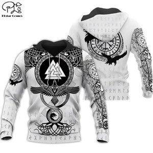PLstar Cosmos Viking Warrior Tattoo New Fashion Tracksuit casual Colorful 3D Print Zipper Hoodie Sweatshirt Jacket Men Women s-9 201019