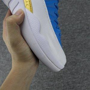 Mens 12 Mann Basketball Blau Weiß Xii 12s Laufschuhe für Männer Günstige Designer-Turnschuhe Sport Tennis mit Box