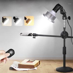 Photographic Studio Teléfono Disparo ajustable Desktop Soporte Soporte Boom Brazo Kits 35W LED Lámpara Luz de Lámpara Belleza Foto / Video en vivo1