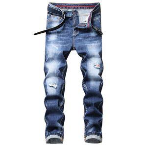Herren Designer Jeans Mode Waschen Blue Jeans Klassische Skinny Denim Hose Zerkratzt Distressed Biker Jean Pants