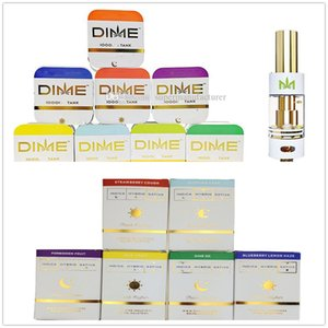 Newest DIME Vape Pen Cartridges Ceramic Coil Empty Carts With New Packaging Boxes 0.8ml 1.0ml