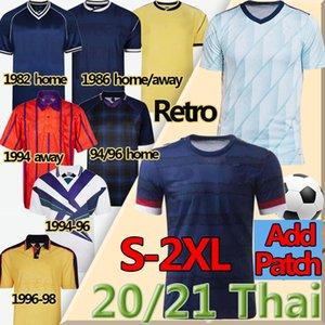 2020 2021 Escocia Soccer Jersey Robertson Fraser Forrest McGinn Men + Kit Kit Kit Retro Jerseys 1982 86 94 96 1998 Hendry Lambert Football Shirt