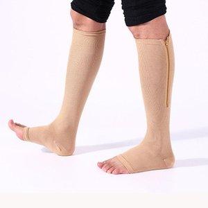 새로운 1 쌍 유니섹스 압축 스타킹 Stovepipe 양말 다리 무릎 지원 양말 탄성 수면 정맥류