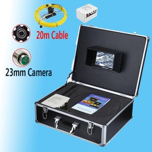23MM HD lens Stainless Steel Waterproof Pipe Sewer Drain Endoscope Pipeline Duct Inspection Camera System 20M Cable