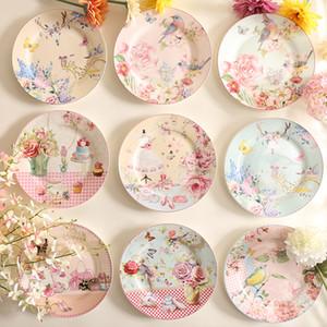 Wourmth pastoral os chinois vaisselle et assiettes gâteau en porcelaine gâteau pâtisserie plateau de fruits céramique table céramique table de dîner q0108