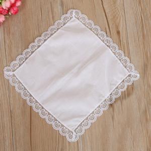 % 100 Pamuk Beyaz Mendil Erkek Masa Handkerchief Ter emici Havlu DIY Graffiti Mendil İçin Bebek Yetişkin HHA2095