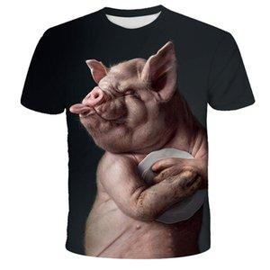Fun novelty animal pig cow dog orangutan sheep series T-shirt men and women 3D printed T shirt Harajuku style t-shirt summer top