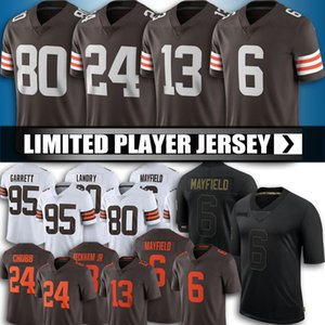 24 Nick Chubb 6 Baker Mayfield Jersey Football 13 Odell Beckham JR 80 Jarvis Landry Jerseys 95 Myles Garrett Denzel Ward Football Jersey