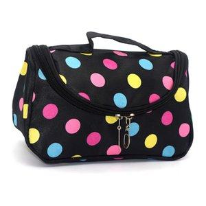 Zipper Makeup Bag Travel Storage Bag Hearts Zebra Lips Dots Cosmetic Bags Toiletry Clutch Organizer Wash Bag