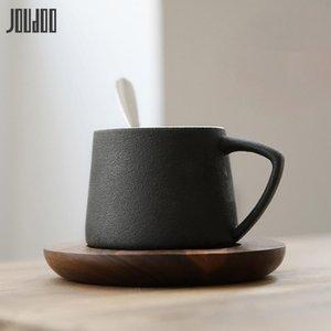 Jueno de café de cerámica de joudoo con tazas breves tazas de la tarde de alta calidad de la oficina de café taza helada 35