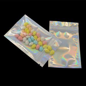Richiudibile valvola cibo borsa borse di grado Odore Borse Proof Foil Pouch Bag piatto a colori laser confezione sacchetto per favore di partito Food Storage