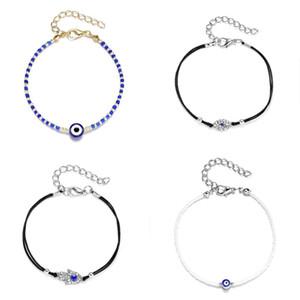 Azul Ojo Rhinestone Bangle False Pearl Bracelets Mujeres Moda Multi Color Cadena Accesorios Accesorios Originalidad 2 7yh O2