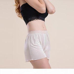 100% Silk Women's Safety Short Pants Women Lace Boyshort Sexy Female Bottoming Femme Panties Girl Knickers Woman Underpants