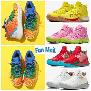 2020 Zapatos Esponja Pineapple House 5 Zapatos de televisión PE baloncesto al cumplirse 20 años 5s pintada x Multi-Color de las zapatillas de deporte calidad superior del diseñador