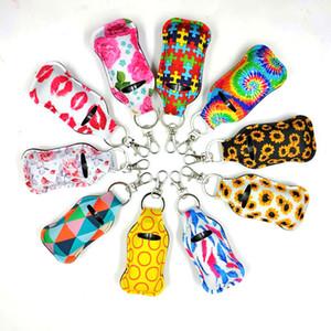 40 Farben Muster Druck Hand Sanitizer Holder Chapstick Halter Keychain Girl Chapstick Lippenstift Keychain Für Party Favors Party Geschenk