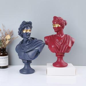 Statue de David David Ornament Figure Figurine Résine Crafts Scandinavian Office Meubles Exquise Traitement de haute qualité