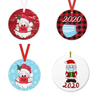 DIY Noel Süsler Süsleri Yuvarlak Kare Shape süslemeler Boş ConsumableChristmas Ağacı Pendant 200pcs T1I2496 baskı transfer