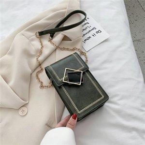 Solid Color 2020 New Messenger Ladies Shoulder Luxury Designer Female Mini Chain Mobile Phone Bag