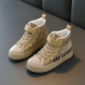 Scarpe Cotton Casual 2020 Ragazzi Inoltre Boots Winter Warm Solid lettere di colore dei bambini